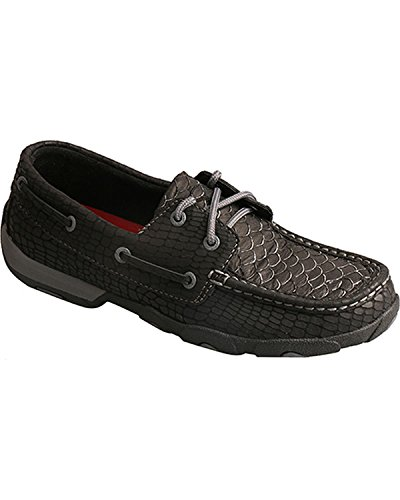 Twisted X Women's Ivory Driving Moccasin Shoes Moc Toe - Wdm0110 Black