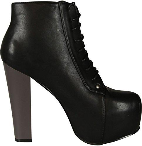 Victoria Heel Pu Victoria Women Black Tall 11 Glaze Women Glaze 11 Tall Bootie fqnYR