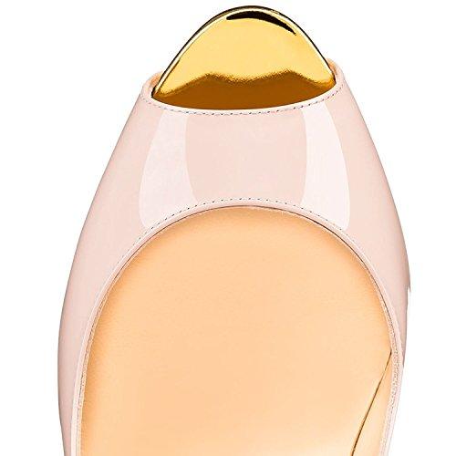Escarpins Toe Sandales Chaussures Grande Femme Open Plateforme Ubeauty Multicolore Taille Peep 8UaqcA