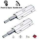 Magnetic Push Latches Jiayi 2 Pack Heavy Duty Touch Latch Cabinet Push Open Latches and Catches Push Release Opener Door Magnet Catch RV Drawer Closure for Kitchen Cupboard Closet Door Closing
