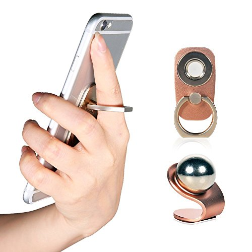 ULBRE Phone Magnetic Holder SES 2 in 1, Finger Ring Grip, Magnetic Car Dash Mount Stand for Iphone, Samsung Galaxy S5 S6 S7 Edge , Note, Nexus, HTC, Nokia LG - 1 Shipping Day Free