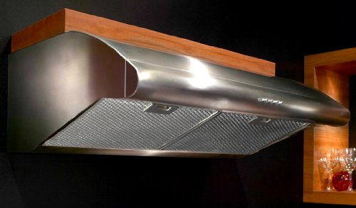Professional Collection Pellicano PELL30SS 30 Canopy Pro Style Under-Cabinet Range Hood With 600 CFM PRO Motor Convertible Ventilation 6 Round Ducting In Stainless (600 Cfm Pro Motor)