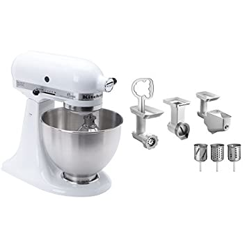 kitchenaid k45ss classic stand mixer white kitchenaid fppc mixer