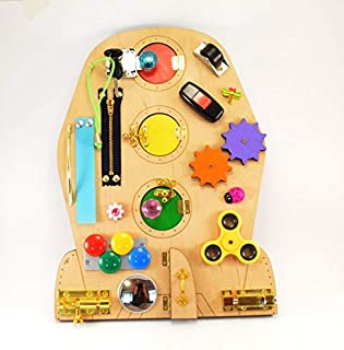 Busy board Rocket toy Baby gift Travel toy Toddler toy Learning Educational Montessori Waldorf toys
