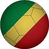 Congo Flag Soccer Ball Home Decal Vinyl Sticker 12'' X 12''