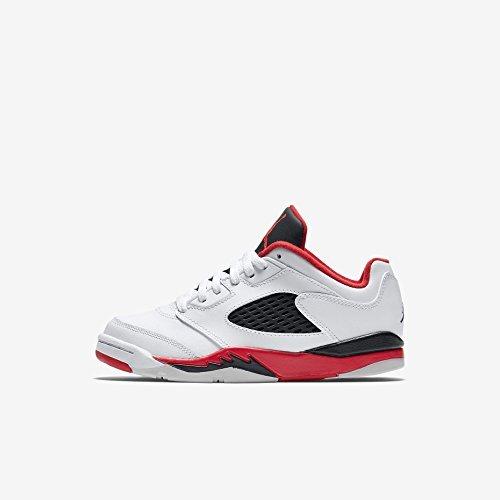 Jordan 5 Retro Low Little Kids Style: 314339-101 Size: 11.5 Y US White/Fire Red-Black (Jordan 5 Low White Fire Red Black)