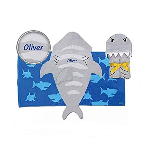 Personalized Hooded Beach & Bath Towel (Shark)
