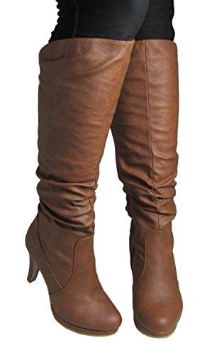 40 US Boots M Top 7 Moda Womens Tan Win D qzOFt