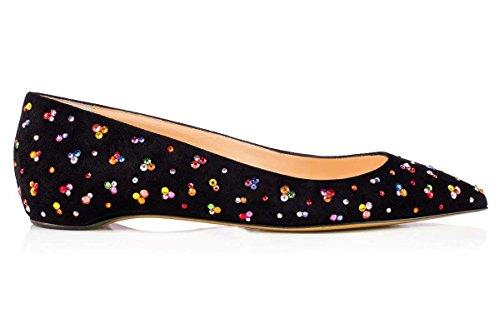 Mano Cuero Zapatos Solos Poco Puntiagudos Cuero Anti Para De Planos Taladro Mujeres De GONGFF Zapatos 1 Profundos qRUWPnZRx