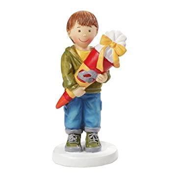 Junge mit Schultüte 8,5 cm: Amazon.de: Küche & Haushalt