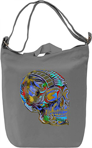 Psychedelic Skull Borsa Giornaliera Canvas Canvas Day Bag| 100% Premium Cotton Canvas| DTG Printing|