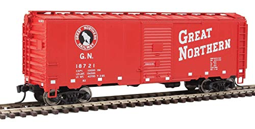 Walthers HO Scale 40' AAR 1948 Boxcar Great Northern/GN (Red/Rocky Logo) #18721
