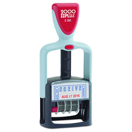 Cosco 2000 Plus Self-Inking Two-Color Type Received Dater, 1 1/2 inches - Plastic 2000 Stamp Plus