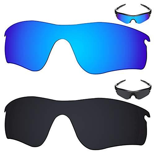 599097b1e2779 Amazon.com  Galvanic Replacement Lenses for Oakley RadarLock Path Sunglasses  - Amber + Black Polarized - Combo Pack  Clothing