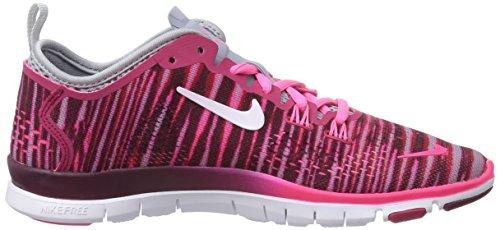 Nike Womens Free 5.0 Tr Passe Fire Print Fuchsia Kraft / Lys Magnet Grå / Hyper Rosa / Hvit
