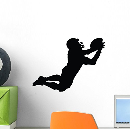 Football Silhouette Wallmonkeys Reuseable Paint Safe product image