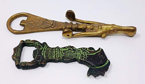 Buddha4all Old Antique Style Brass Unique Work Cross Bottle Opener Vintage Reproduction (Set)