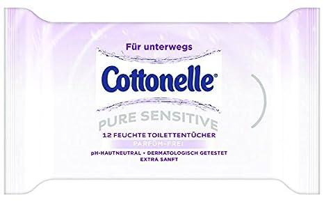 Cottonelle Pure Sensitive Toallitas húmedas para viajes, pack de 9 unidades con 12 toallitas: Amazon.es: Salud y cuidado personal