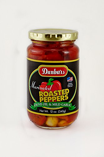 Dunbars 12 Ounce Jar Marinated Roasted Peppers, 12Pack
