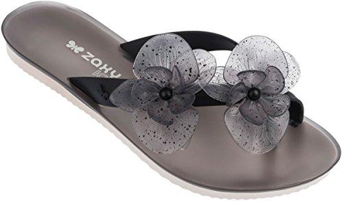 Zaxy Womens Ice II Thong Fem Synthetic Thong Sandals Black o0idaFf7A