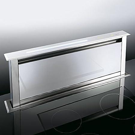 Campana extractora, elevable, de cristal, blanco, 90 EM: Amazon.es: Hogar