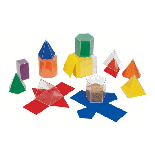 EAI Education GeoModel Folding Shapes: 10 cm - 11 Solids and 11 Nets