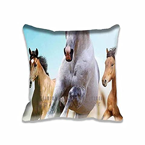 Horses Run Animal Square Digital Printed Cushion Cover Throw Pillow Case Pillow Sham For Decor Decorative Home Sofa Bedroom (Hot Pictures For Bedroom)