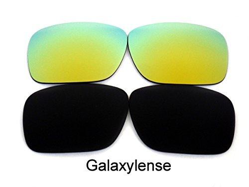 Galaxy Lentes De Repuesto Para Oakley Holbrook Polarizados negro y dorado 2 pares