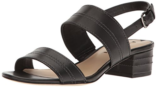 Via Spiga Women's Gem Dress Sandal, Black Leather, 8 M US by Via Spiga