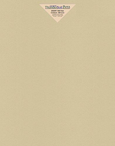 (25 Desert Tan Fiber Finish Cardstock Paper Sheets - 11 X 14 inches Scrapbook|Picture-Frame Size - 80 lb/Pound Cover|Card Weight 216 GSM - Natural Fiber with Darker Specks - Slightly Rough Finish)