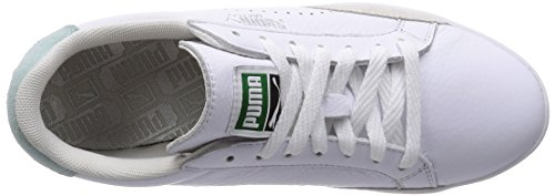 Puma Match Lo Basic Sports Damen Sneakers Weiß (white-fair aqua 07)