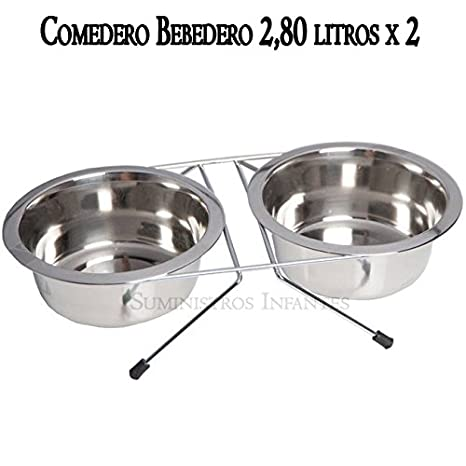 Suinga COMEDERO Perros con SOPORTE DE SUELO de acero ...
