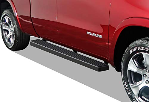 APS iBoard Running Boards 5 inches Matte Black Custom Fit 2019-2020 Dodge Ram 1500 Quad Cab Pickup 4-Door for New Body Style Only (Will Not Fit 2018 Model) (Nerf Bars Side Steps Side Bars)