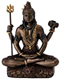 Top Collection Mini Lord Shiva Statue in Lotus Pose - Hindu God and Destroyer of Evil Sculpture in Premium Cold Cast Bronze - 3.2-Inch Collectible Figurine (Sm. Shiva)