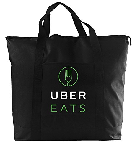 Uber Eats delivery bag, foam padded interior with zipper closure. Extra large.