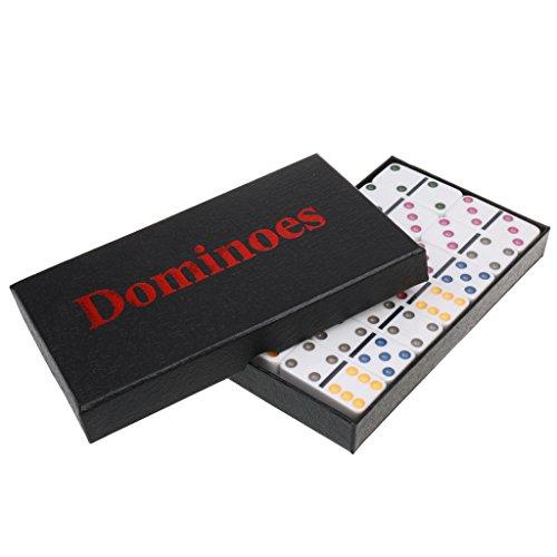 MonkeyJack Double Six Domino Set of 28 Pcs Board Kid Travel Game Toy Colorful Dot White by MonkeyJack (Image #10)