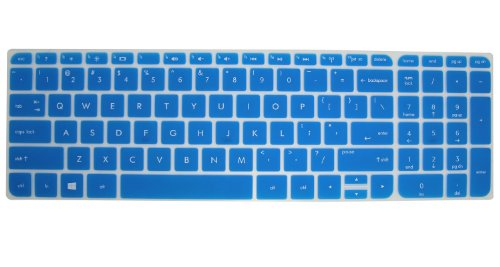 AutoLive Semi-Transparesnt Ultra Thin Soft Silicone Gel Keyboard Protector Skin Cover (Semi-Blue)