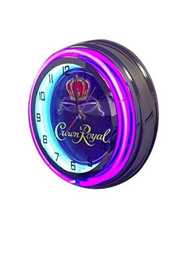 Crown Royal Whiskey Sign - 19 inch Neon Clock ()