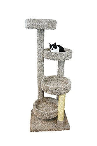 (New Cat Condos 190113-Neutral Color Solid Wood Large Cat Playground, Neutral, Large)