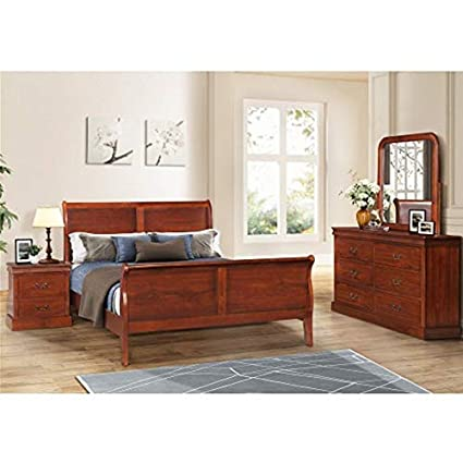 Amazon.com: Bedroom Set, Bed Queen Size Frame + Wood ...