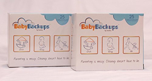 BabyBackups Diaper Extender Pads, 50 Pack - Prevent Diaper Blowouts