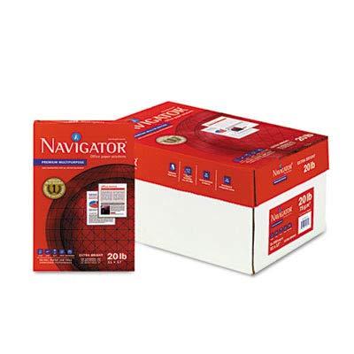 Navigator Copy/Laser/Inkjet Paper, 97 Brightness, 20 lb, 11 x 17 Inches, White, 2500 Sheets per Carton (NMP1720) ()