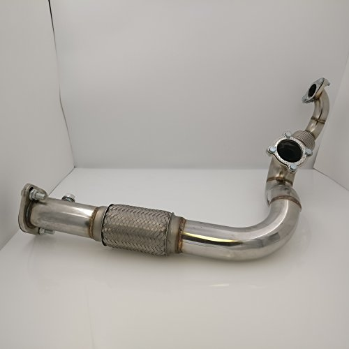 - B Series B16 B18 T3 Turbo Charger Turbocharger Exhaust Downpipe Down Flex Pipe Wastegate Port High Performance Racing