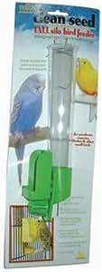 JW Pet Company Clean Seed Silo Bird Feeder Bird Accessory, Tall (Colors Vary)