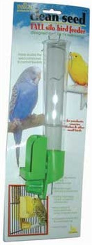 Pet Birds Canary (JW Pet Company Clean Seed Silo Bird Feeder Bird Accessory, Tall (Colors Vary))