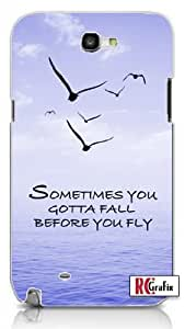 Sometimes You Gotta Fall Before You Fly Quote Blue Sky, Birds, Ocean Unique Quality Hard Snap On For Case Iphone 5/5S Cover (WHITE)