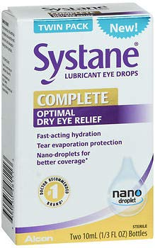 Systane Complete Optimal Dry Eye Relief Lubricant Eye Drops - 20 ml, Pack of 2