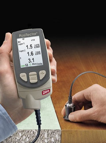 DeFelsko PosiTector 200B1 Ultrasonic Coating Thickness Gage, Standard Model with (Ultrasonic Thickness Gage)