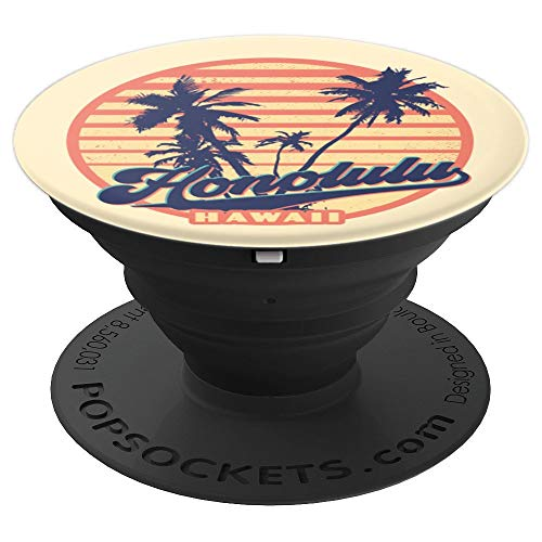 Vintage Honolulu Beach Town Surfing Gift - PopSockets Grip and Stand for Phones and Tablets