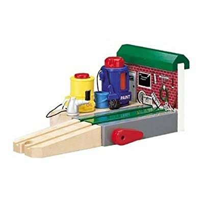 Thomas & Friends Wooden Railway - Sodor Repair Station: Toys & Games